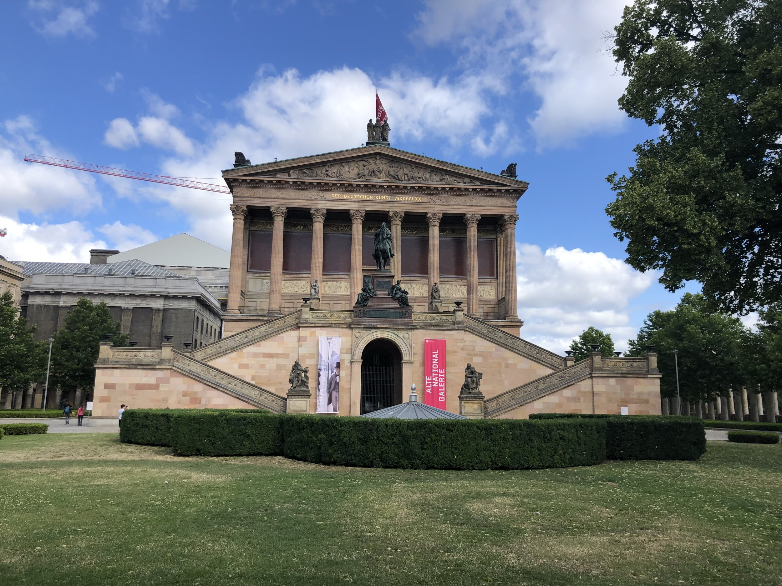 Museum Island is a major Berlin attraction. On this small tract of land are several significant museums that house artifacts of human history from around the world. The outside of the museums was almost as impressive as their contents.
