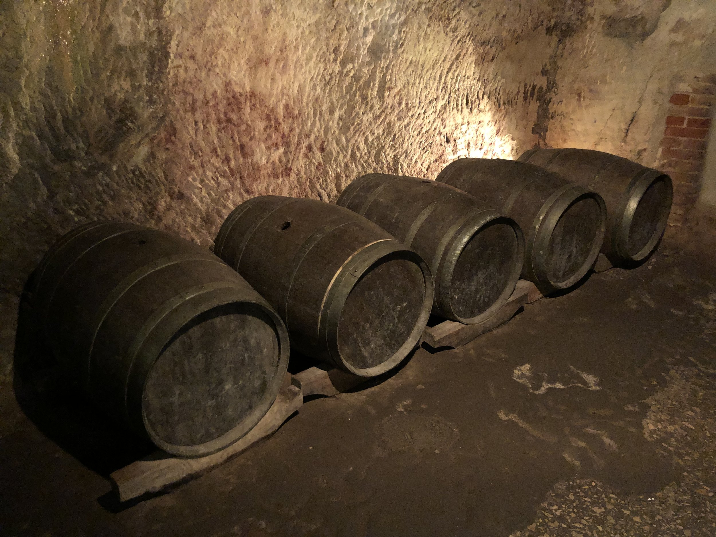 Years ago local brewers used the caverns under the Old City in Nuremberg to brew their beers. One of these breweries is still using them for beer brandy production.