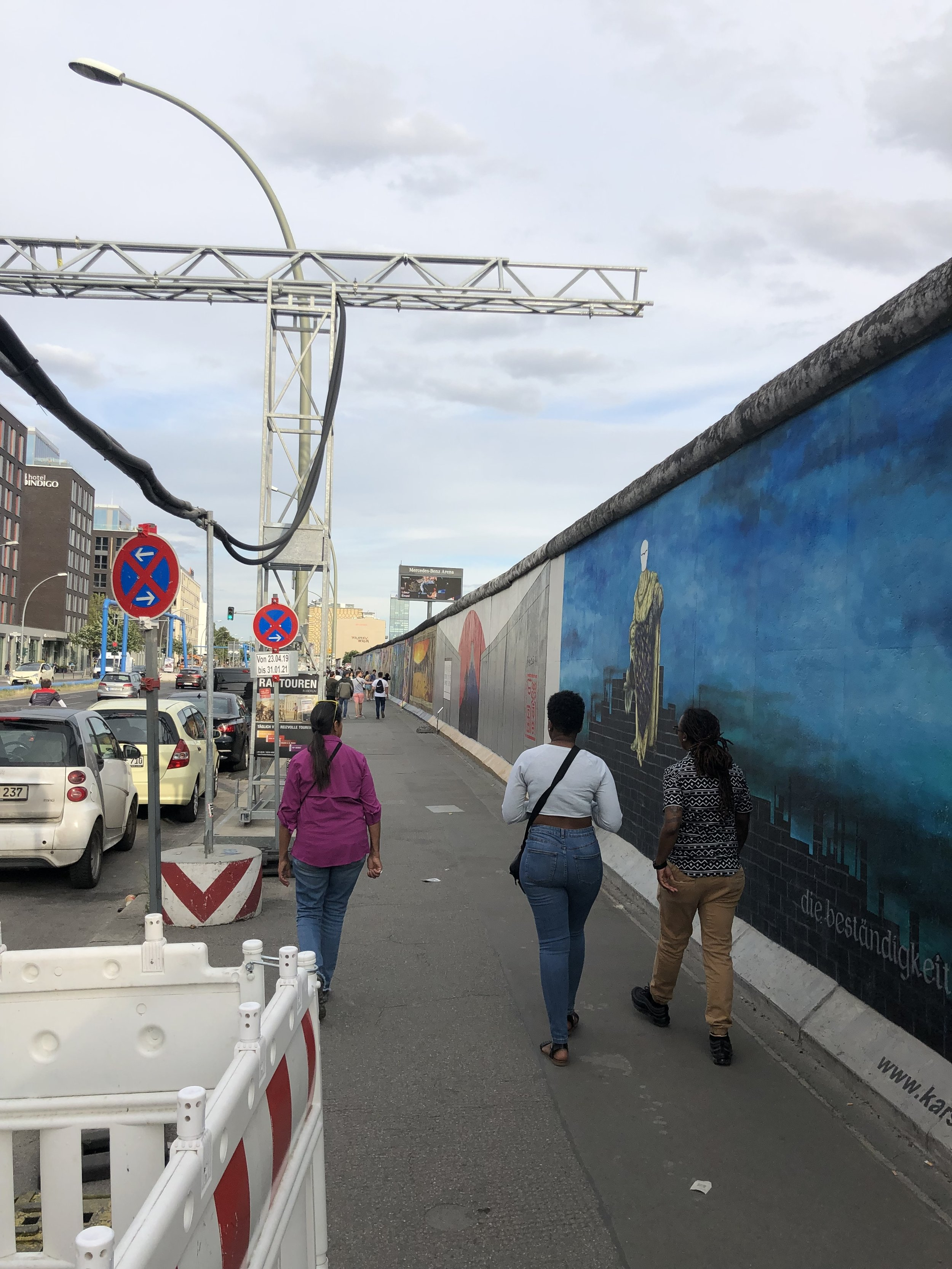 In another part of Berlin the wall has been turned into a half mile long street art project.