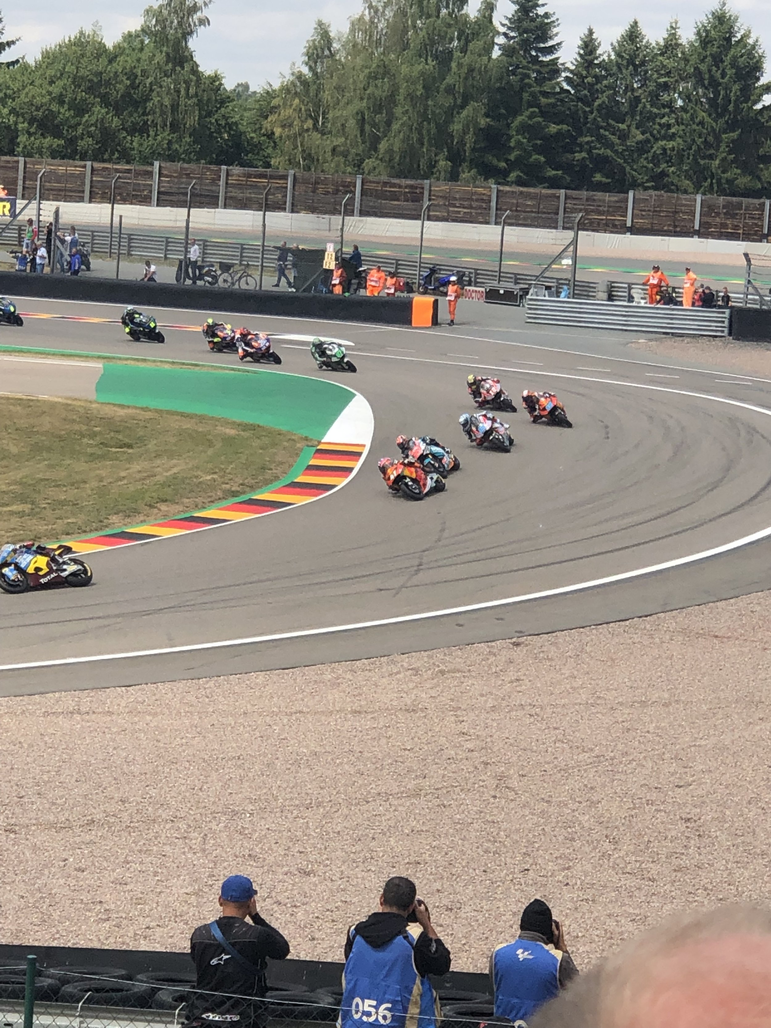 One of the things I most wanted to do while we were in Germany was to attend the MotoGP races held each year at the Sachsenring course near Chemnitz, Germany. This was my first MotoGP, and it even exciting than I thought it would be.