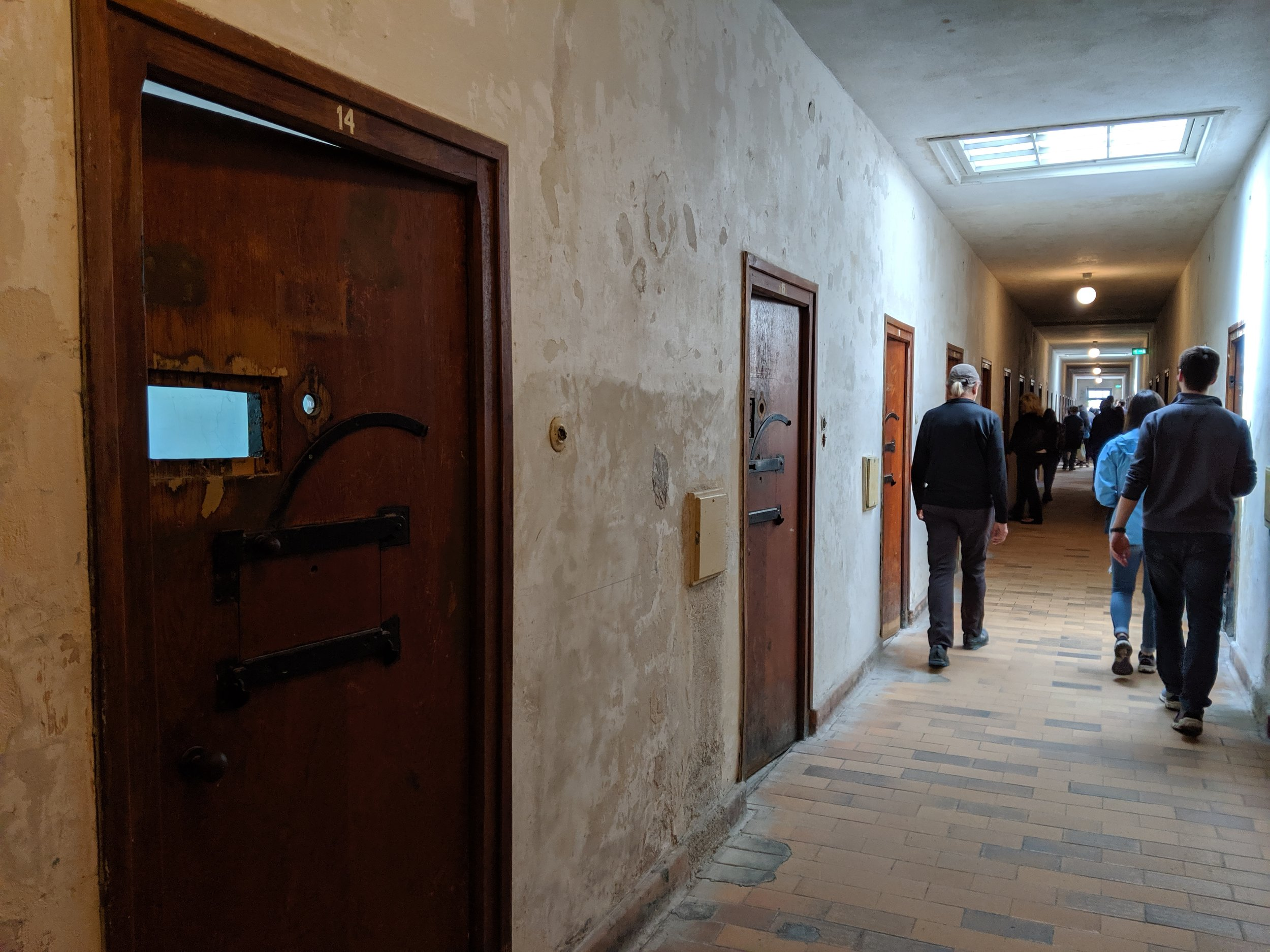 This photo is of the insides of one buildings where high value prisoners were held before and during the war. Members of the group who attempted to assassinate Hitler during the latter years of the war were held here.