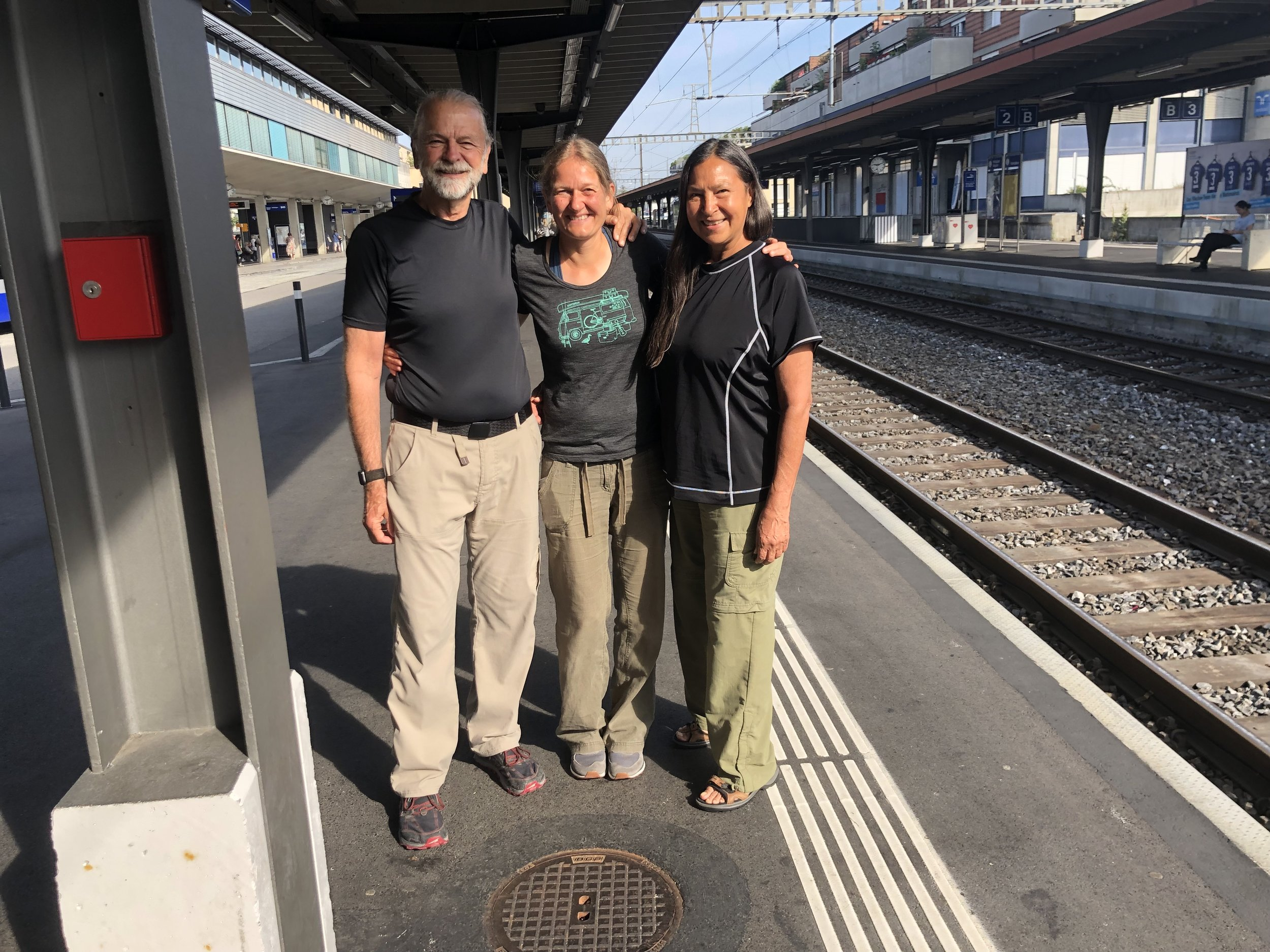 My friend Ines (trail name Oats) who I met on the Pacific Crest Trail. Great to see her during our brief visit to Switzerland.