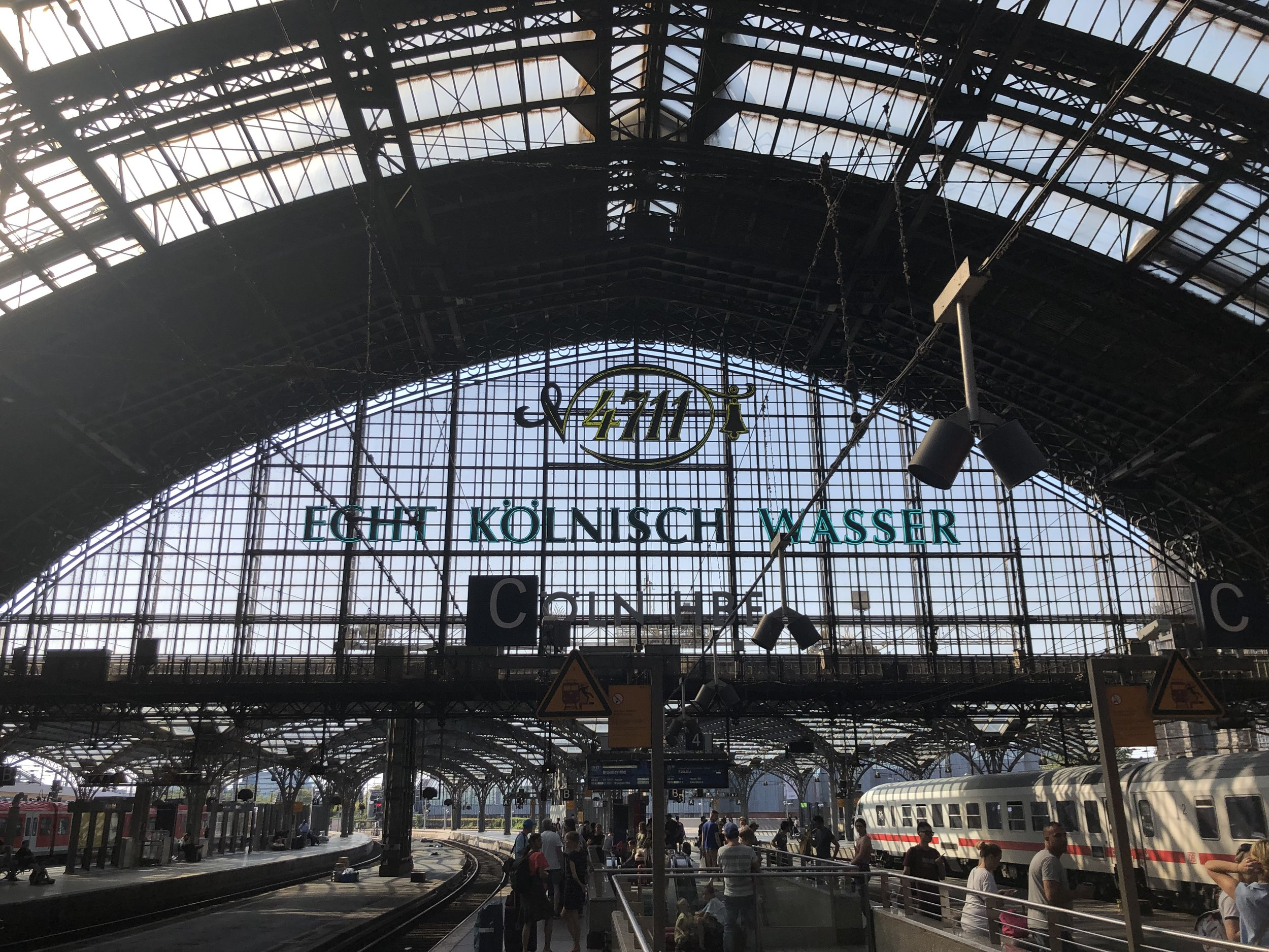 We mostly traveled by rail while in Europe. The trains in Europe are excellent and cheap. This is the Cologne stations on the day we left for Amsterdam.