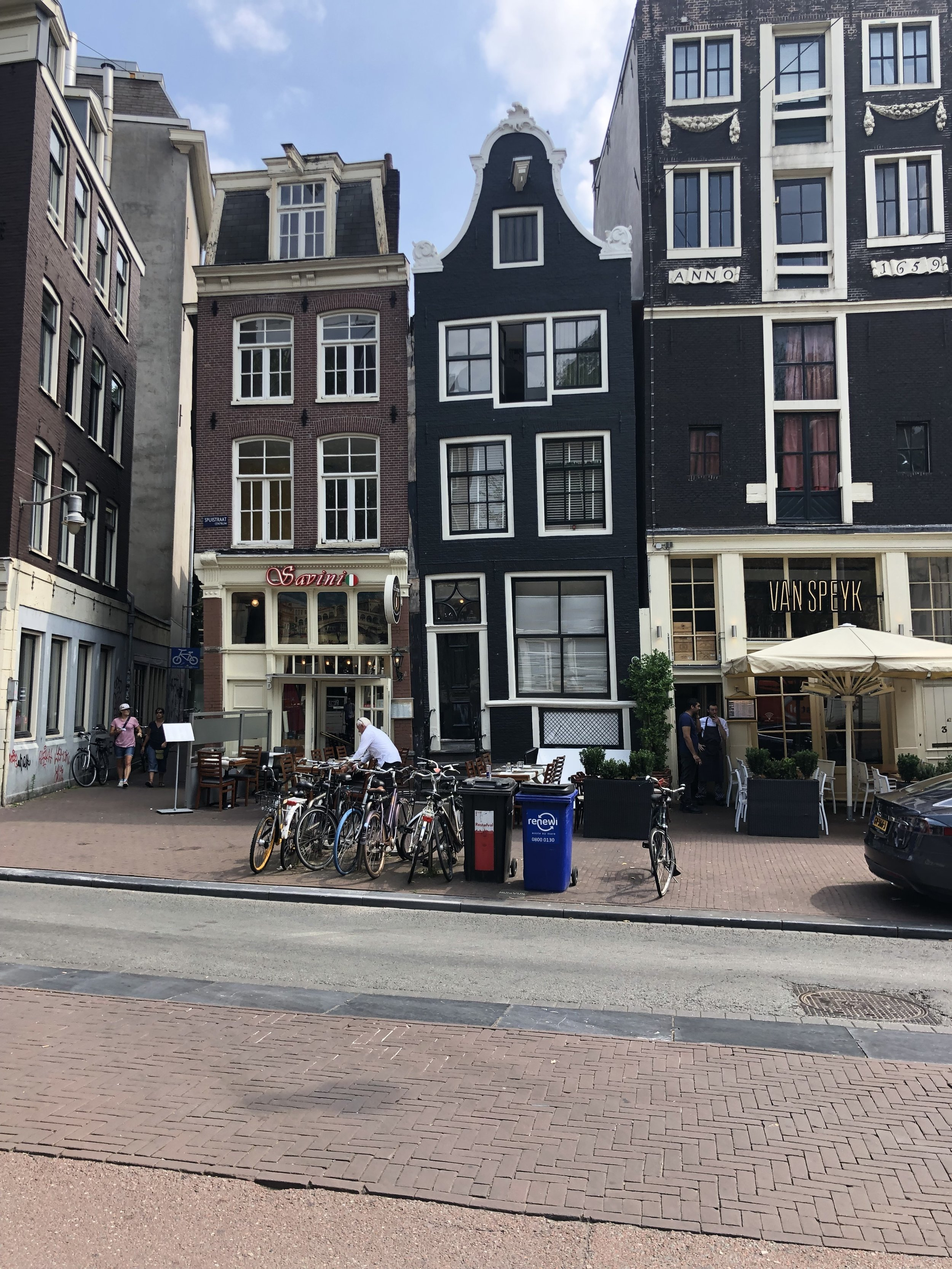 Many building in Amsterdam were noticeably leaning in one direction or another. We were told that over the years the foundations had sunk causing the lean.