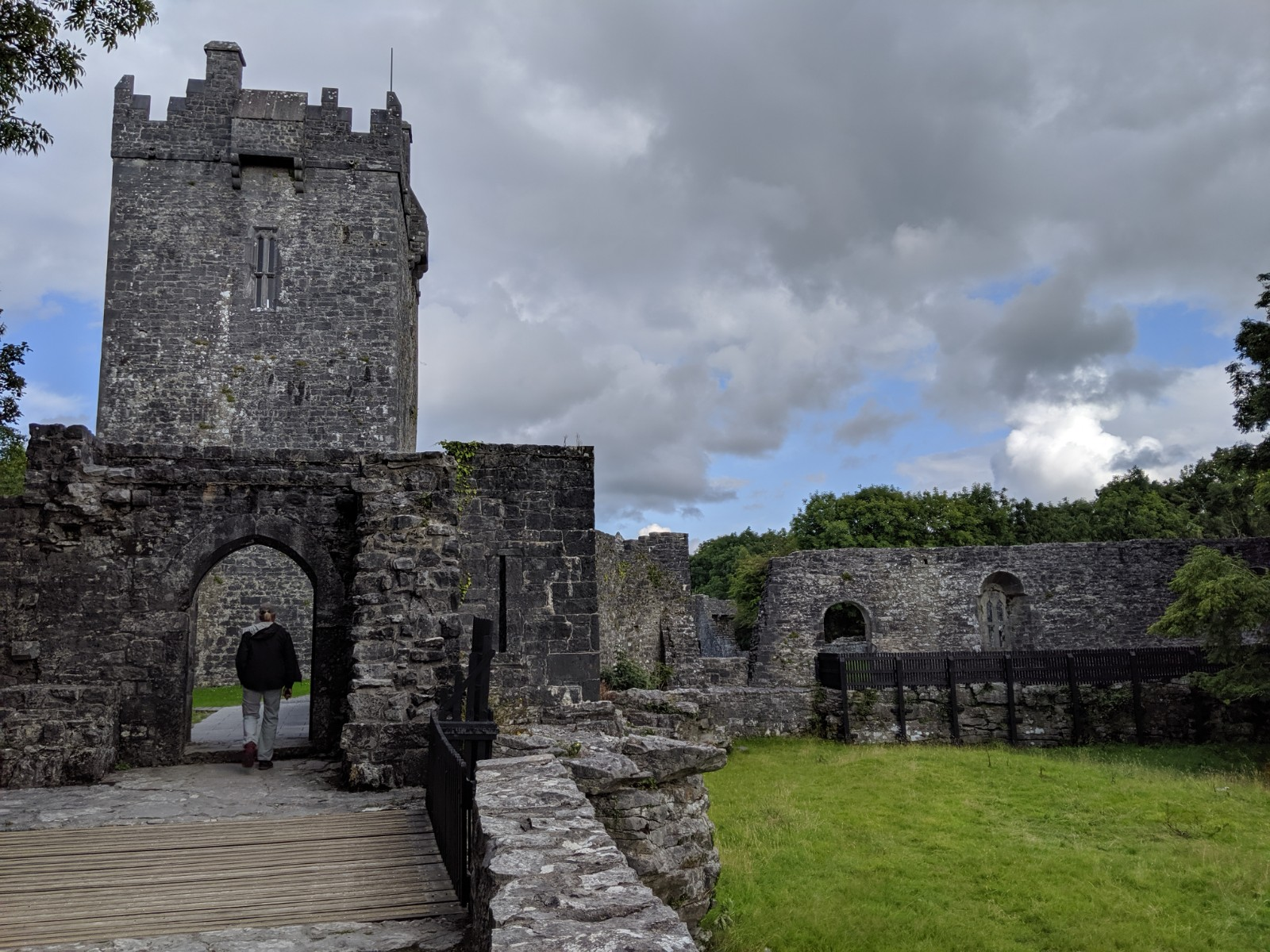 One of the castles we visited. Before the English conquered Ireland, the country was divided into areas controlled by clans. At the center of their area the leader of the clan usually built a castle for protection.