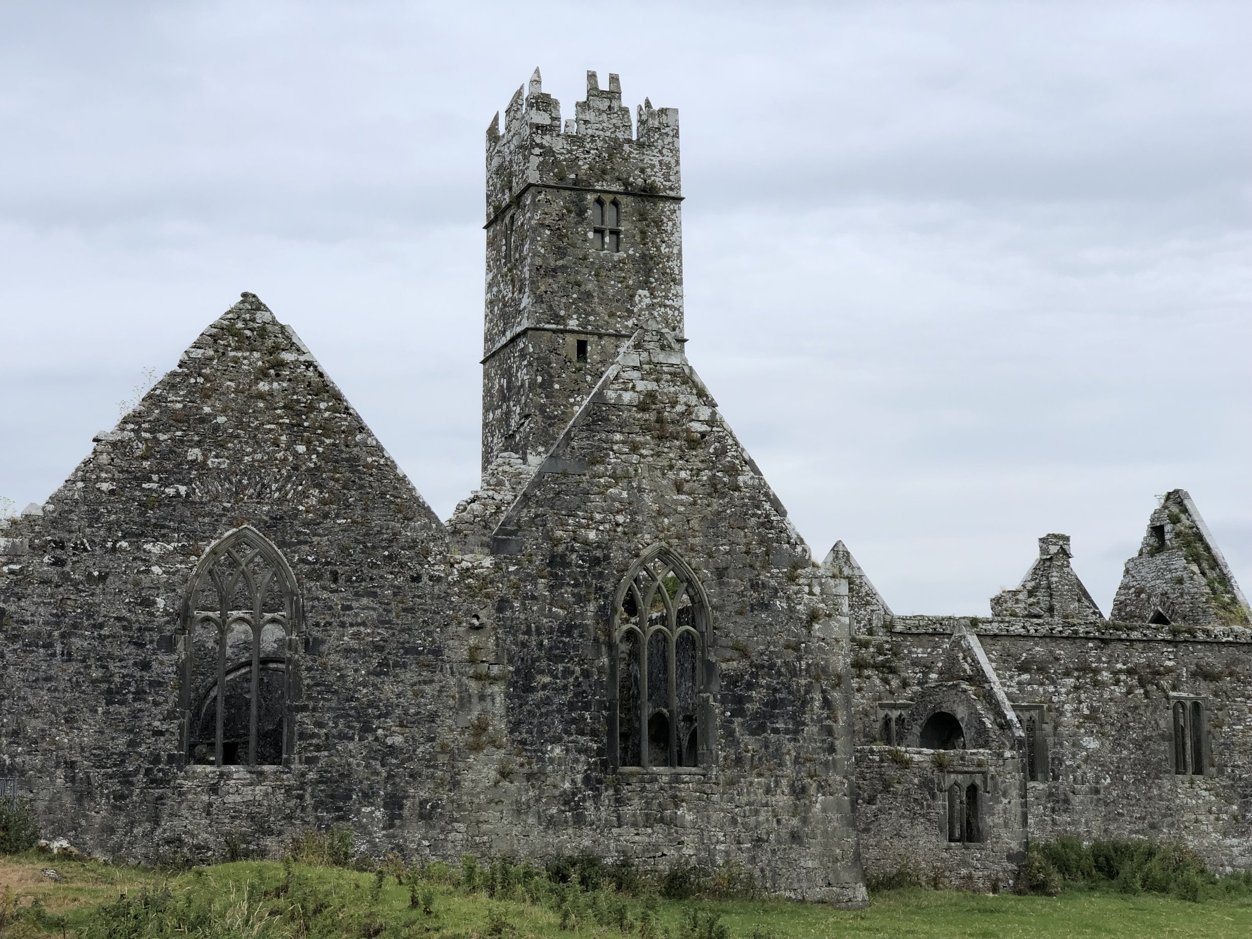 This is the ruins of a friary near Tuam. It was first built in the eleventh century and expanded and rebuilt several times thereafter.