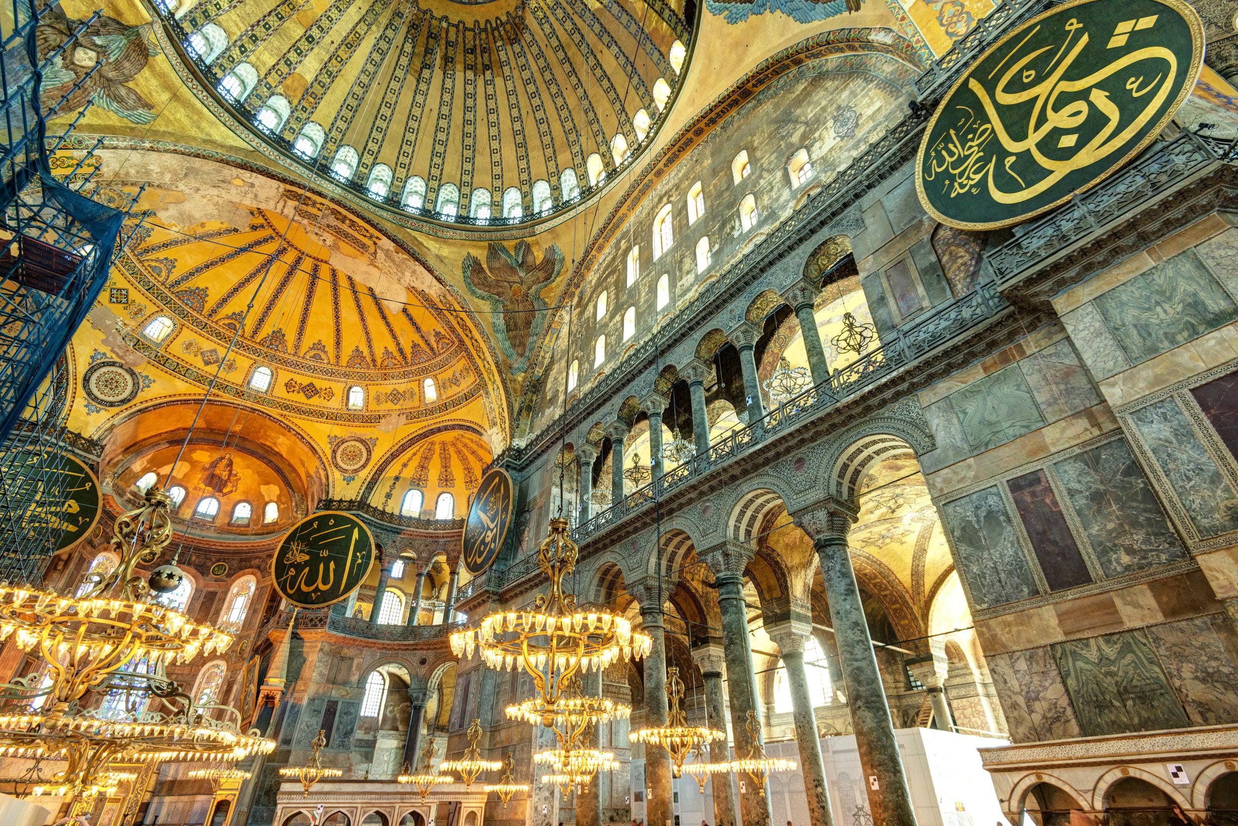 Hagia Sophia inside Turkey shutterstock_141463375.jpg