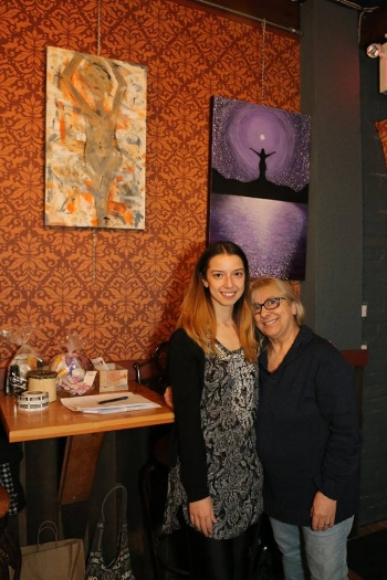 Founder of the Beatitudes Movement Cari Flammia & her mom Lucia! - Photo by Allysha Howse .