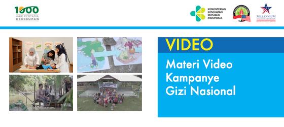 Materi Video Kampanye Gizi Nasional