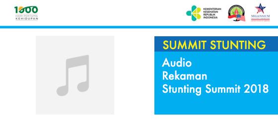 Audio Rekaman Stunting Summit 2018
