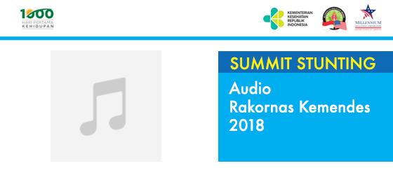 Audio Rakornas Kemendes 2018