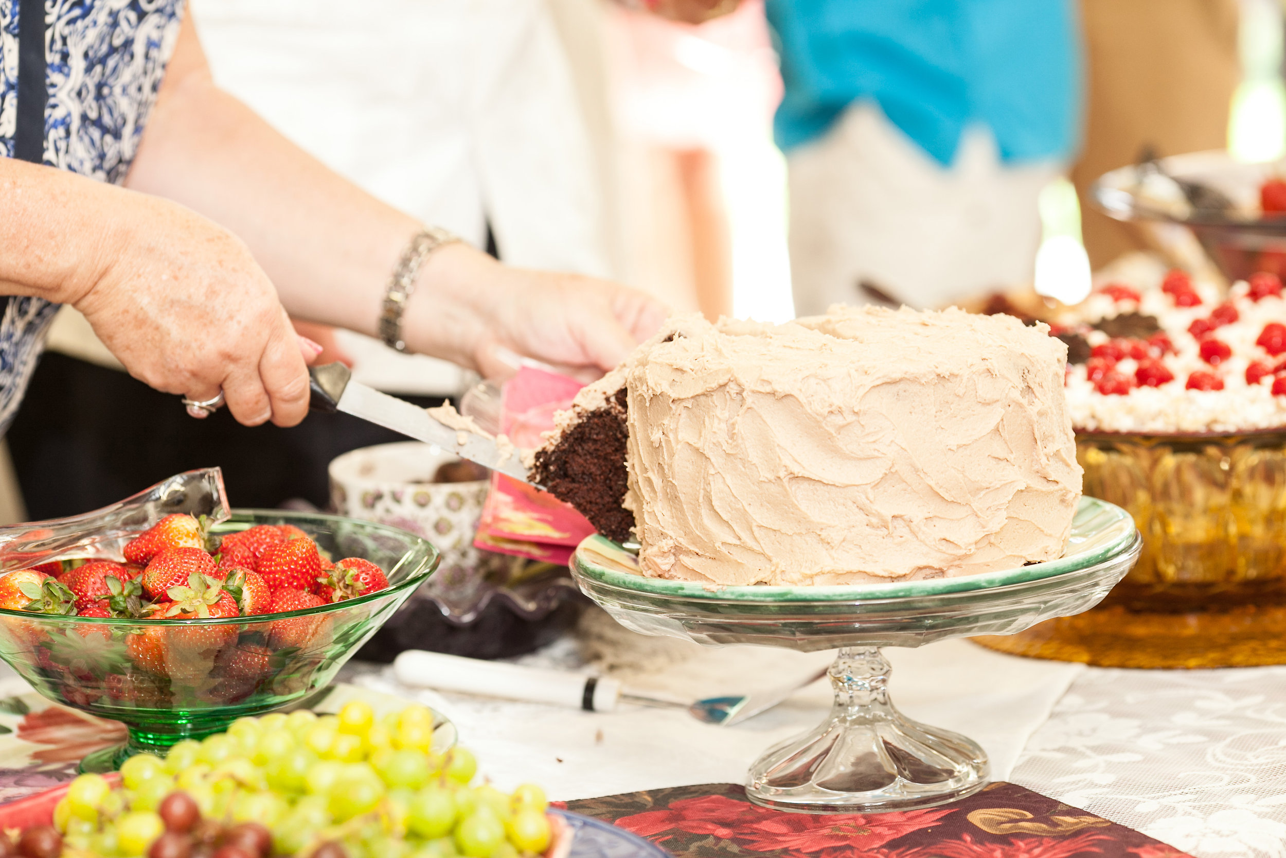 Green Glass Bowl,  Cake Pedestal #1 ,  Cake Pedestal #2 ,  Cake Pedestal #3