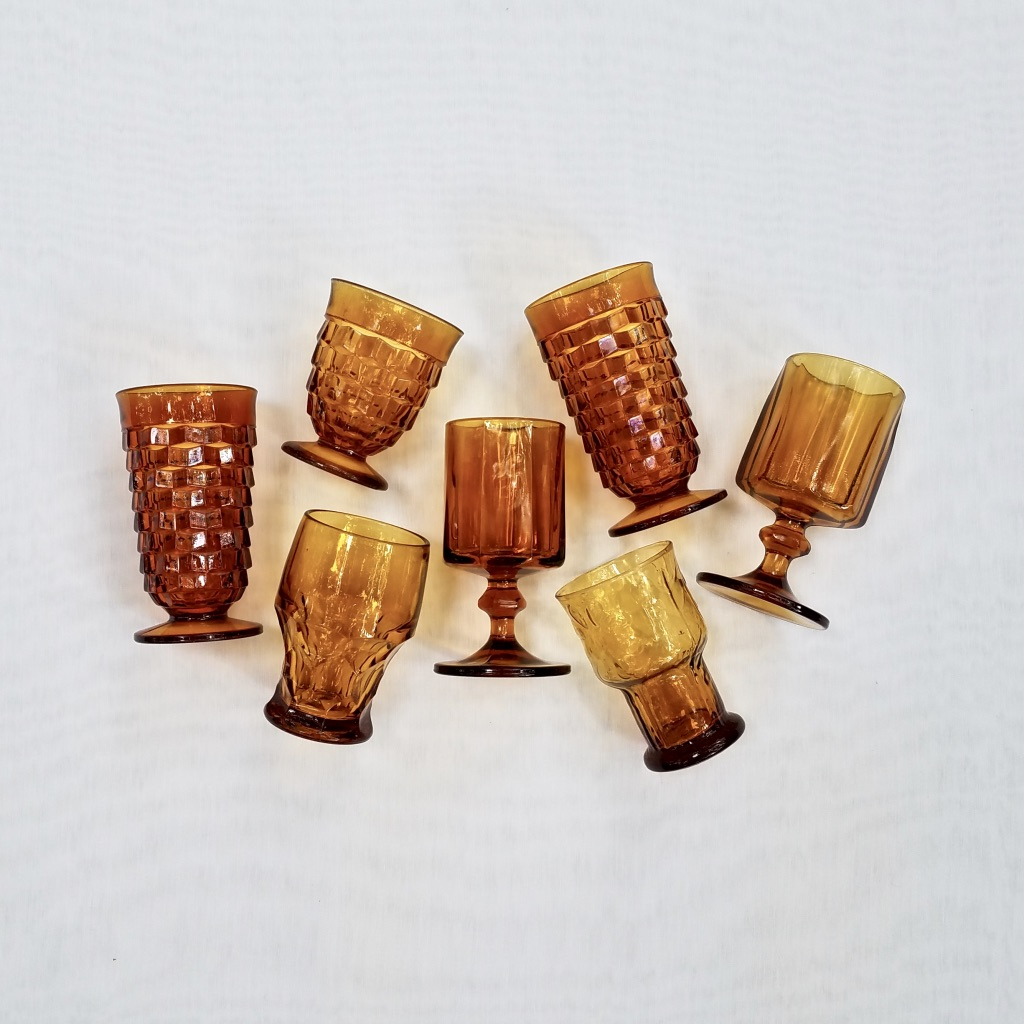 Amber Goblets from The Copper Quail