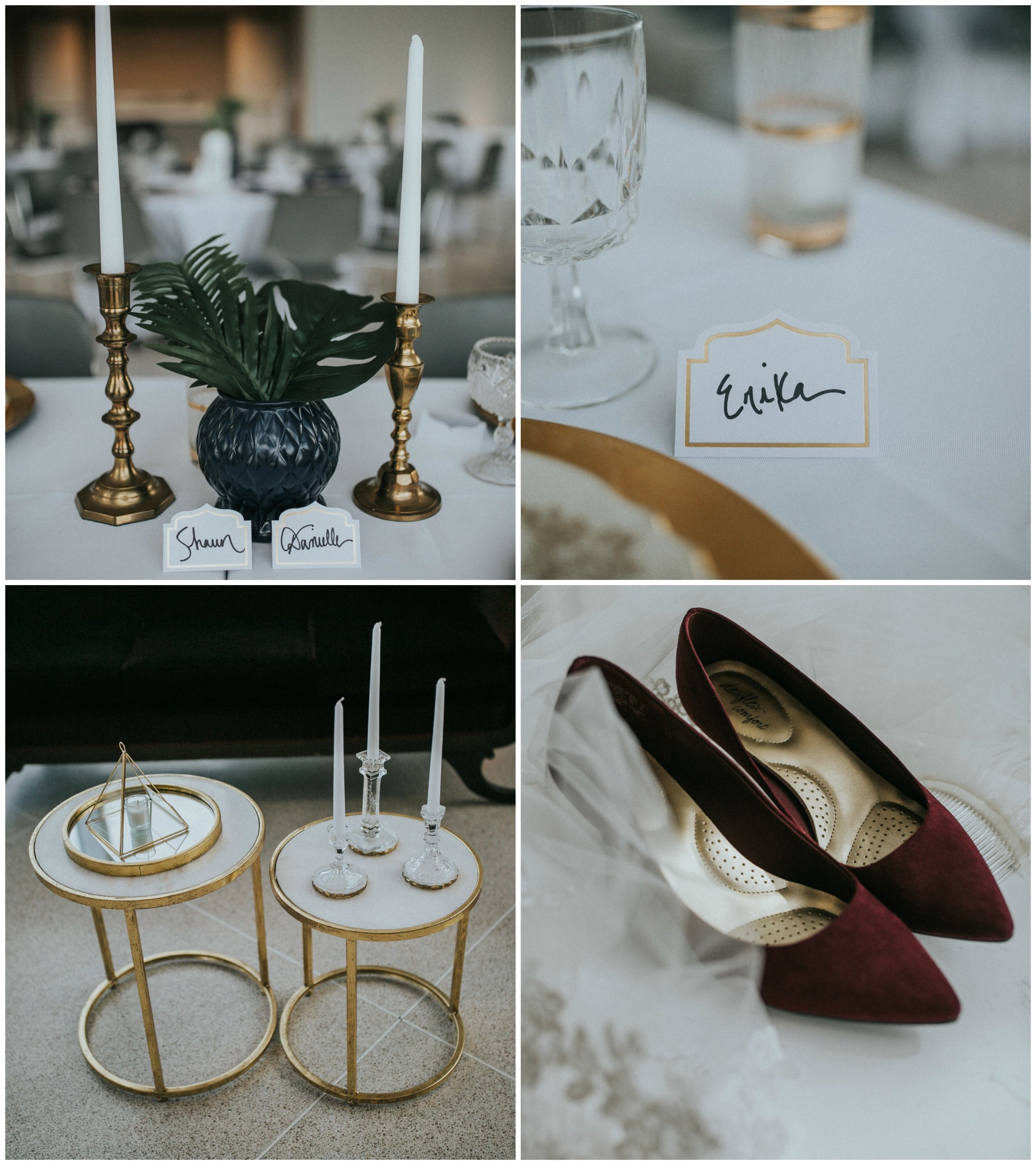 Details from Danielle and Shaun's Modern Wedding at The Knoxville Museum of Art