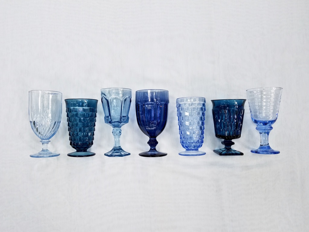 Blue Goblets from The Copper Quail