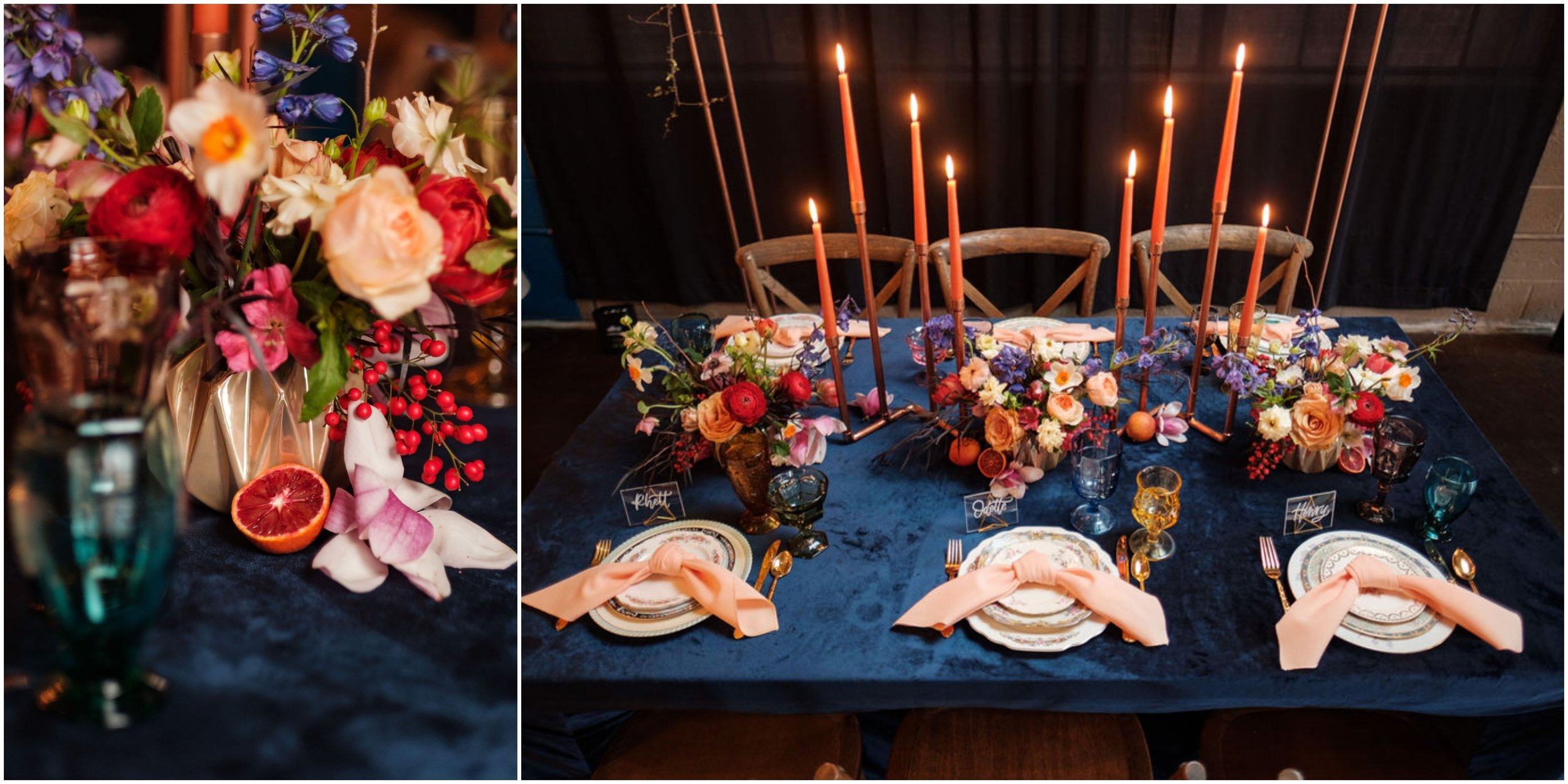 PHOTOGRAPHY -  MATT REITER PHOTO , VENUE -  THE GRANFALLOON , FLORALS -  THICKET CREATIVE , CROSS BACK CHAIRS -  CHATTANOOGA TENT , LINENS -  WHITE TABLE , CALLIGRAPHY -  LIFE WELL LETTERED , COPPER ARCH, TABLETOP DECOR, AND DESIGN -  THE COPPER QUAIL