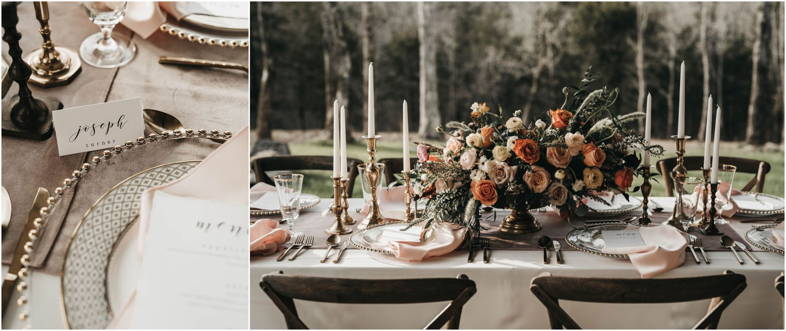 PHOTOGRAPHY -  RAFFERTY PHOTO , VENUE -  CANDLELIGHT RIDGE , FLORALS -  WHITE MAGNOLIA FLORAL , PLACE SETTINGS -  CHATTANOOGA TENT , LINENS -  WHITE TABLE , SIGNAGE -  LIFE WELL LETTERED , STATIONARY -  WEBBCO GRAPHICS , VINTAGE RENTALS -  THE COPPER QUAIL