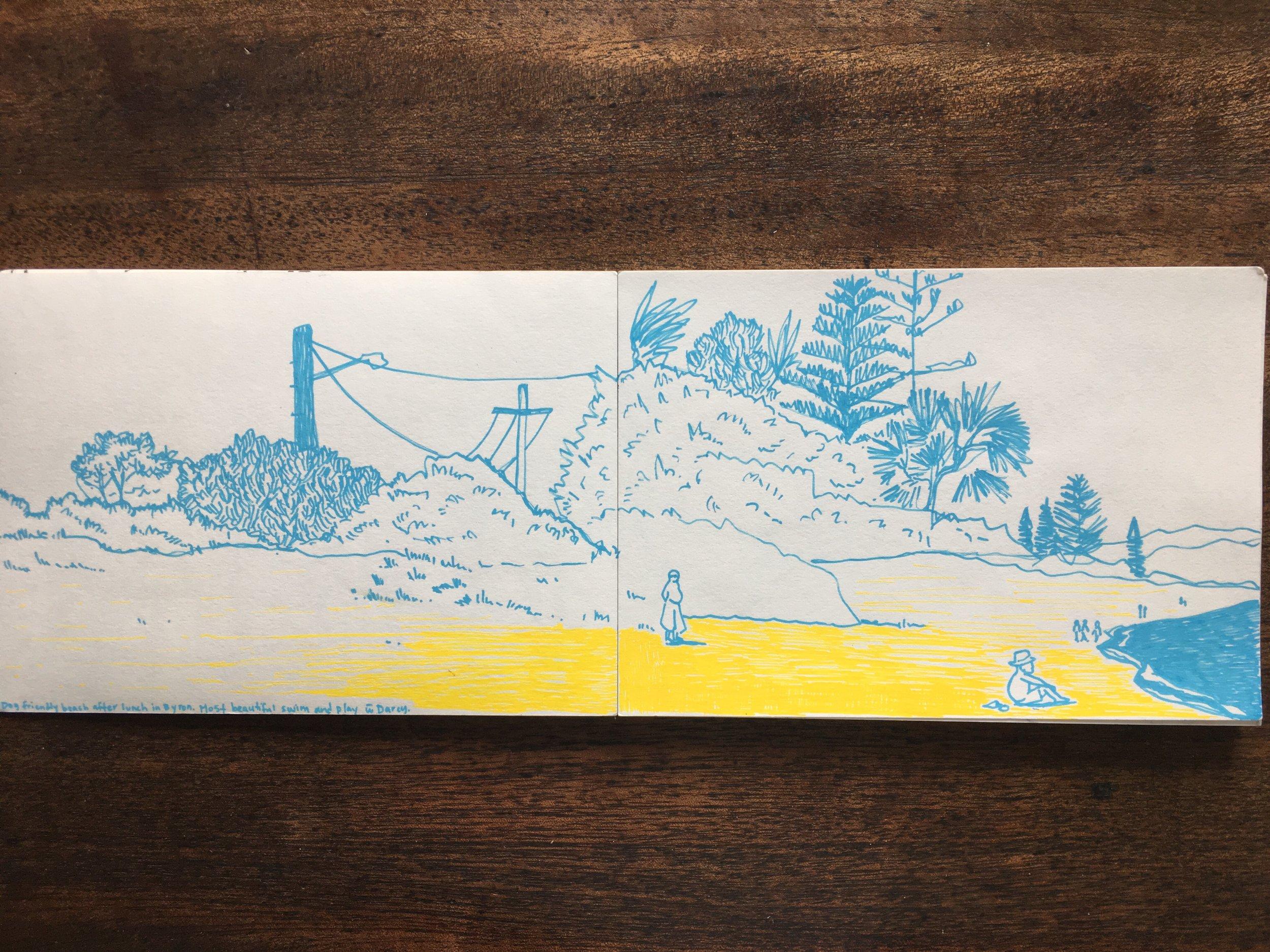 Byron Bay, NSW, Sarah Campbell Illustration