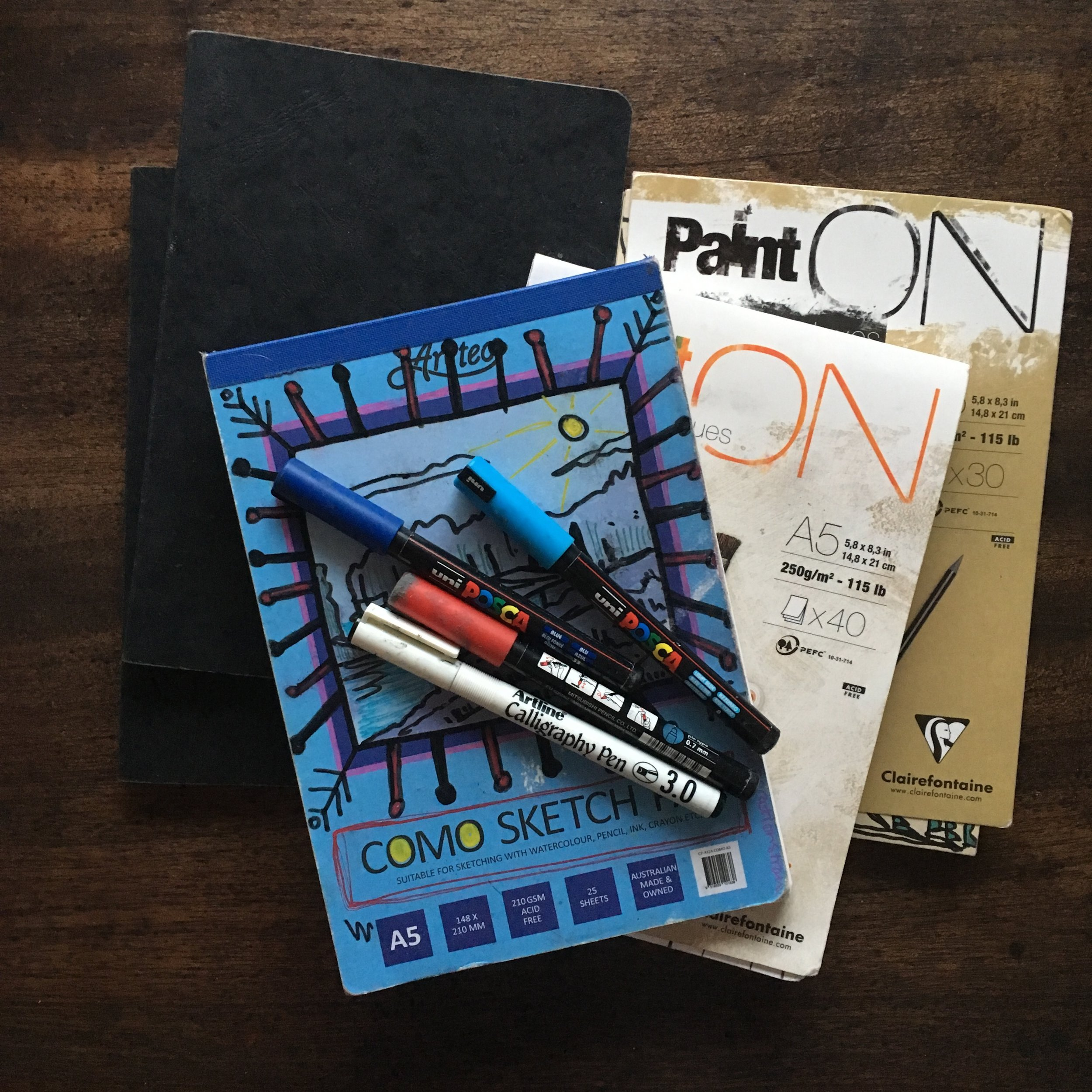 You don't need much to get started! Just a sketchbook, some drawing weapons of choice, your eyes, hand and a bit of trust in the process.