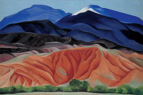 Georgia O'Keeffe's  Black Mesa Landscape, New Mexico/Out Back of Marie's II  (1930)