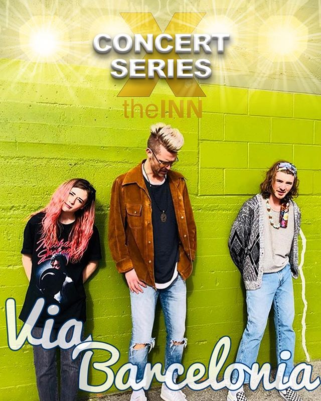 """ANNOUNCEMENT!!!! We are SO stoked to be announcing 1 of 2 of our incredible headliners for tomorrow night's FIRST show of TheInn's Concert Series!  If you haven't had a chance to snag the Concert Series Pass quite yet, that's okay, we will be charging cover at the door! """"Via Barcelonia is like an edible melody that tastes as good as it sounds. With a nod to the music of the past and a leap into the music of the future, this band rides the fine line of authentic, festival pop... merging not only the sounds of the times but the sonics of the world.  Andrew Allen, Taylor McKnight and Liv Roberts, aka Via Barcelonia, have set out to change the musical conversation by creating something so dynamic, fun, positive, genuine and awesome, that you can't help but be drawn in.  With their debut single, 'JUST WANNA DANCE', gaining over 30,000 streams on Spotify during its first week online, Via Barcelonia is definitely an emerging act to watch for.  Boasting songs co-written with multi-platinum songwriters and productions by Juno award winning producers, this is an act with soul stirring, singalong choruses, addictive and electrifying energy and one with limitless opportunity!"""""""