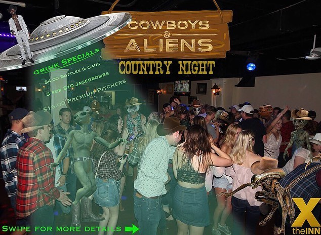 Howdy STFX! It's time to buckle up for the Area 51 raid!!! We're combining this summer's quality memes with a fan favourite - COUNTRY NIGHT!  Come dressed in your best-in-the-west western or UFO fashion for a night you won't forget!