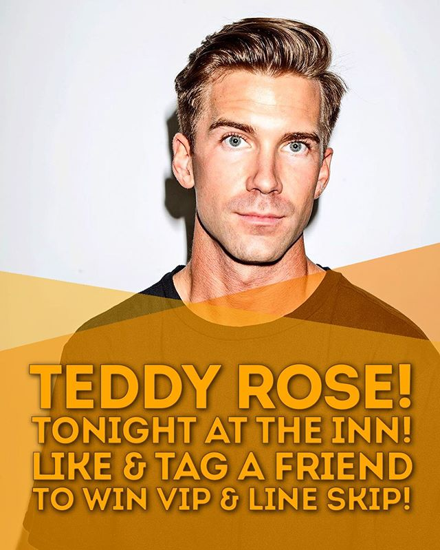 Whose hyped for @teddyyrose at The Inn tonight!?!?! Like this post and tag a friend your bringing in the comments for a chance to win VIP & LINE SKIP!!! Doors are at 9 and cover is $5! . #theinn #wingnight #stfx