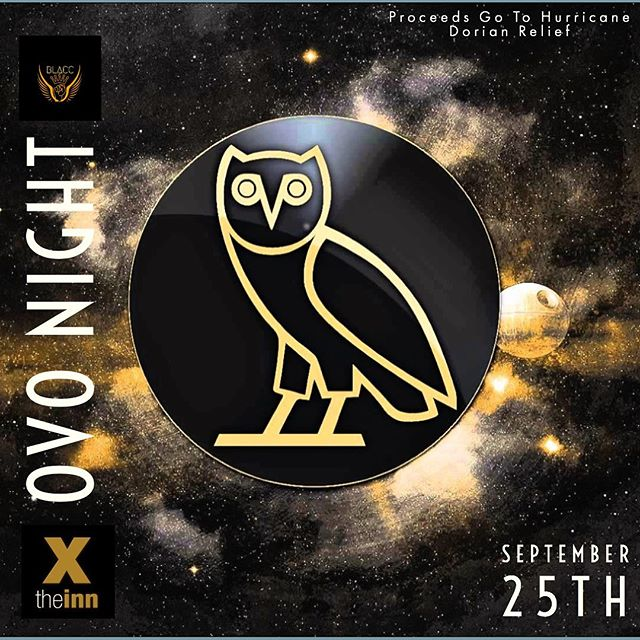 OVO NIGHT! WING NIGHT! Tomorrow! Proceeds go to Hurricane Dorian Relief! Special Guest DJ to be announced! . $14 Pitchers of Canadian, Coors Light, Banquet, & Blackhorse! . #theinn #stfx #wingnight #ovo