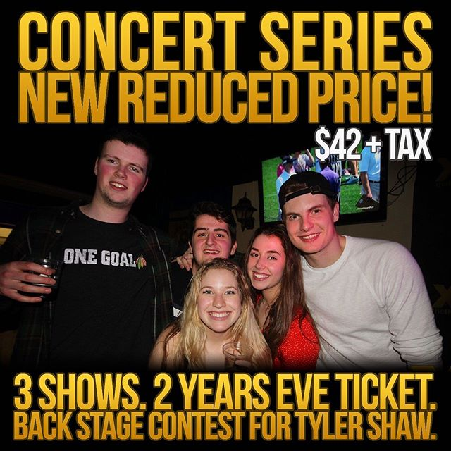 Concert series tickets have been marked down again and there's still time to get entered in the Tyler Shaw VIP Backstage Meet & Greet Contest!!! Get yours at the link in our bio 👉👉👉