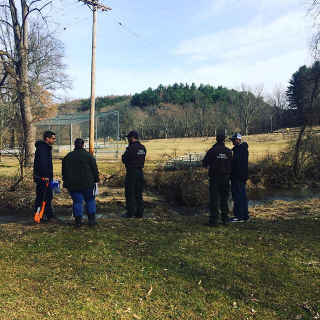 Preparing for day 2 of riparian buffer planting. Do join us to help plant  at North Park on Saturday, April 27th! Find more information via EnviroEvents calendar link in bio  #tree #stewardship #northparkalleghenycounty #getoutside #streamhealth