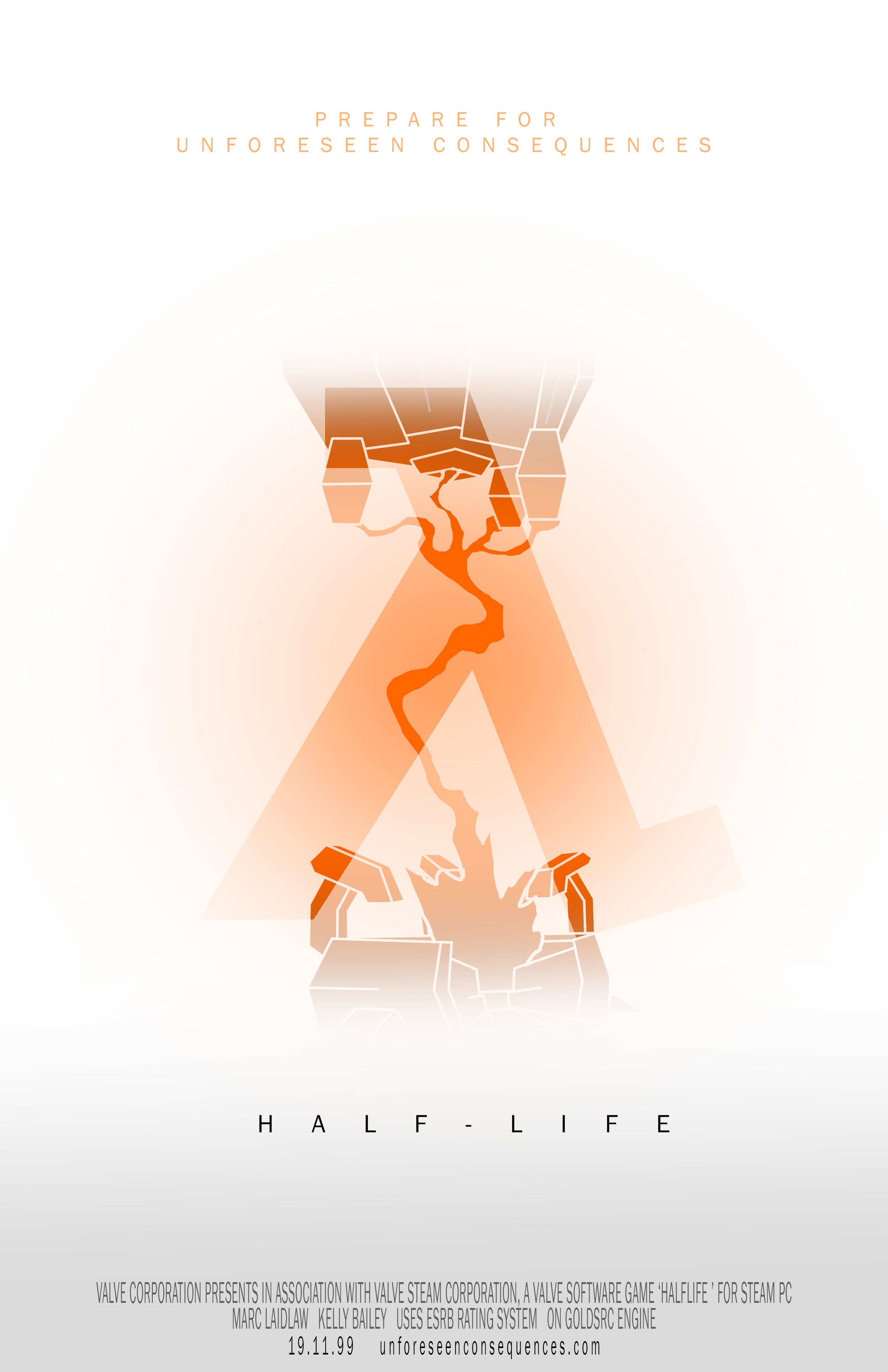 Half-Life Poster Series - Photoshop Composition and Thematic Presentation