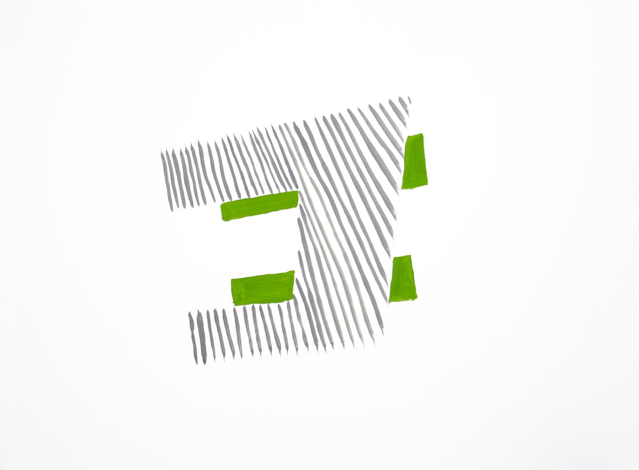 "Genus Shunt, gouache on paper, 30""x24"""