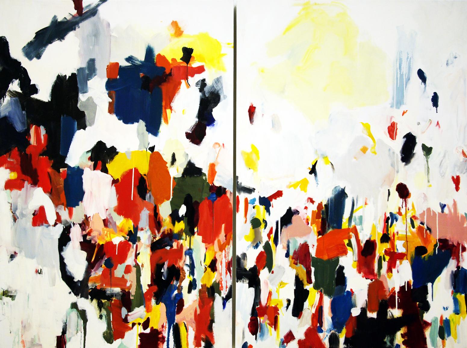 "Wood Runner, oil on canvas, 72""x64"""