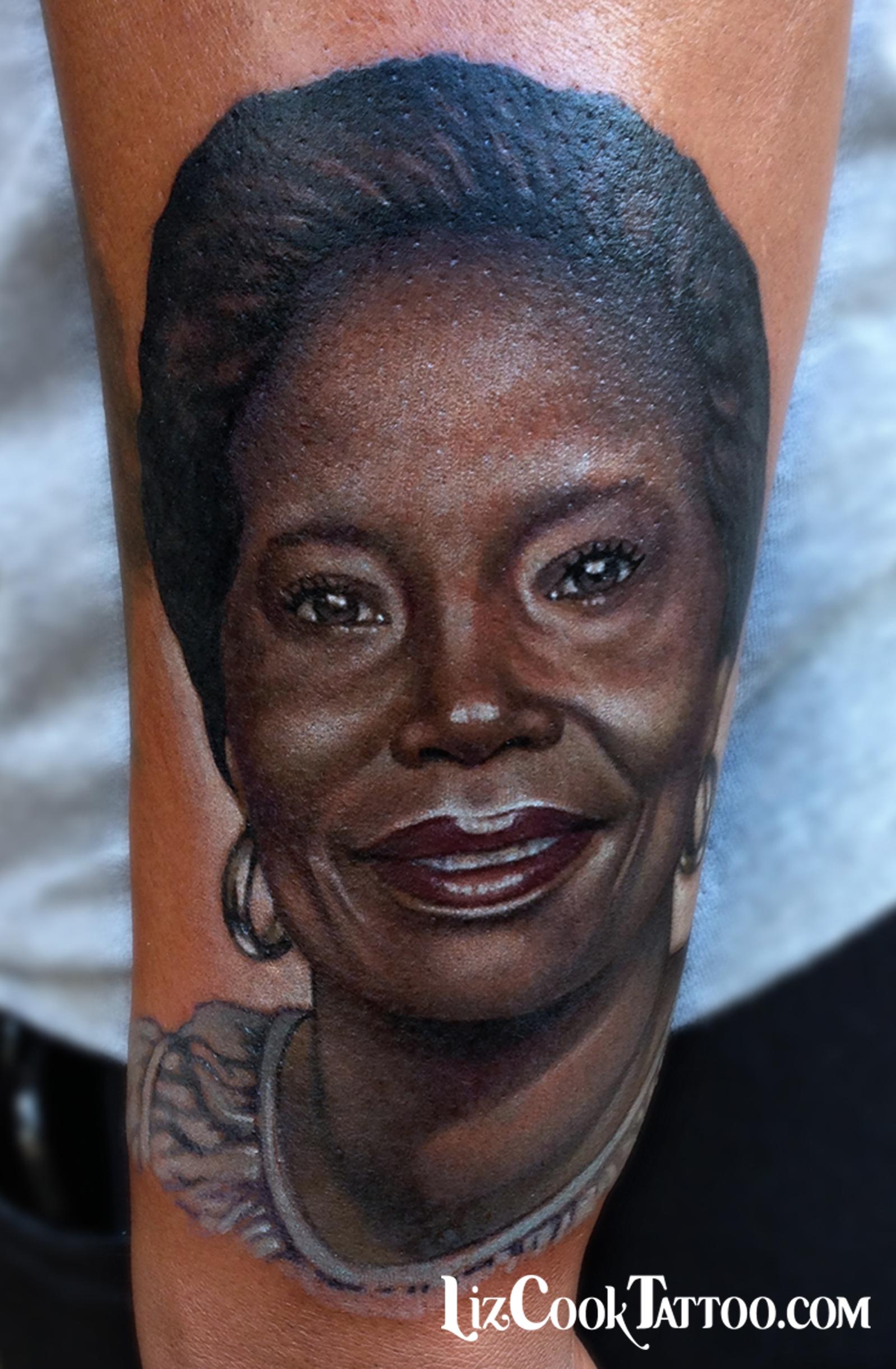 Liz Cook Tattoo Portrait Grandma Color Realism Dark Skin.jpg
