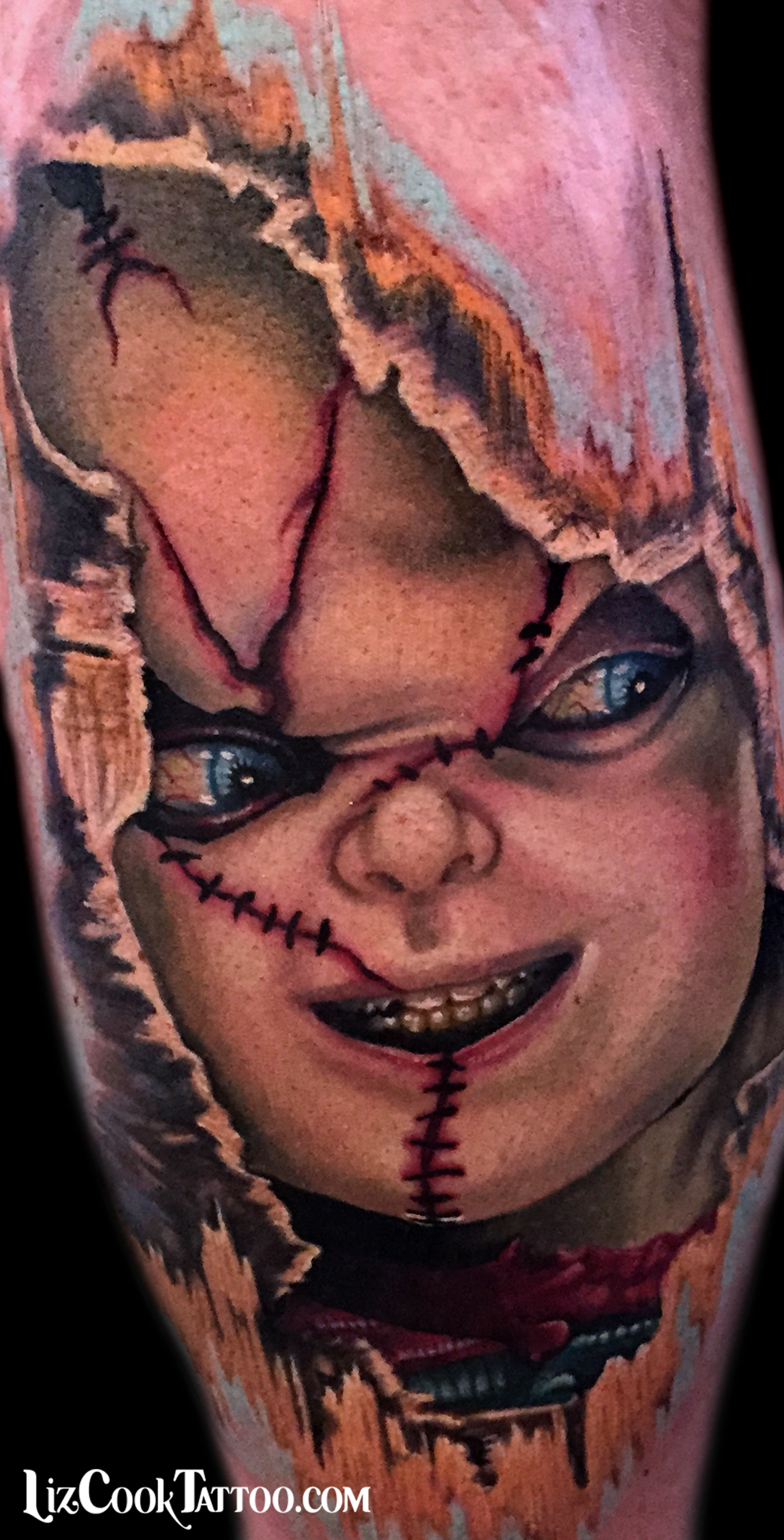 Liz Cook Tattoo Portrait Here's Chucky Color Realism.jpg