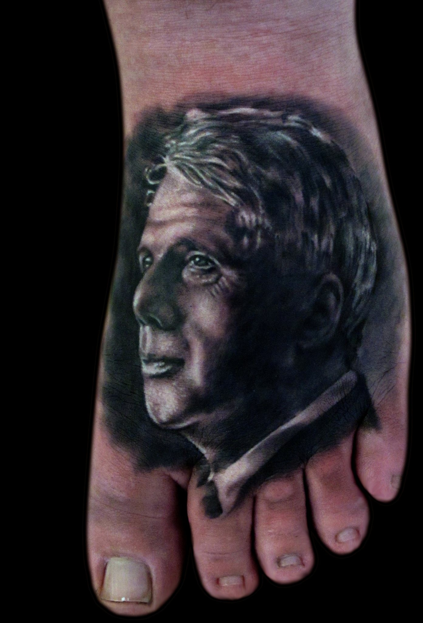 Robert Frost Realistic Portrait Black & Grey Tattoo Liz Cook Dallas Texas 300res.jpg