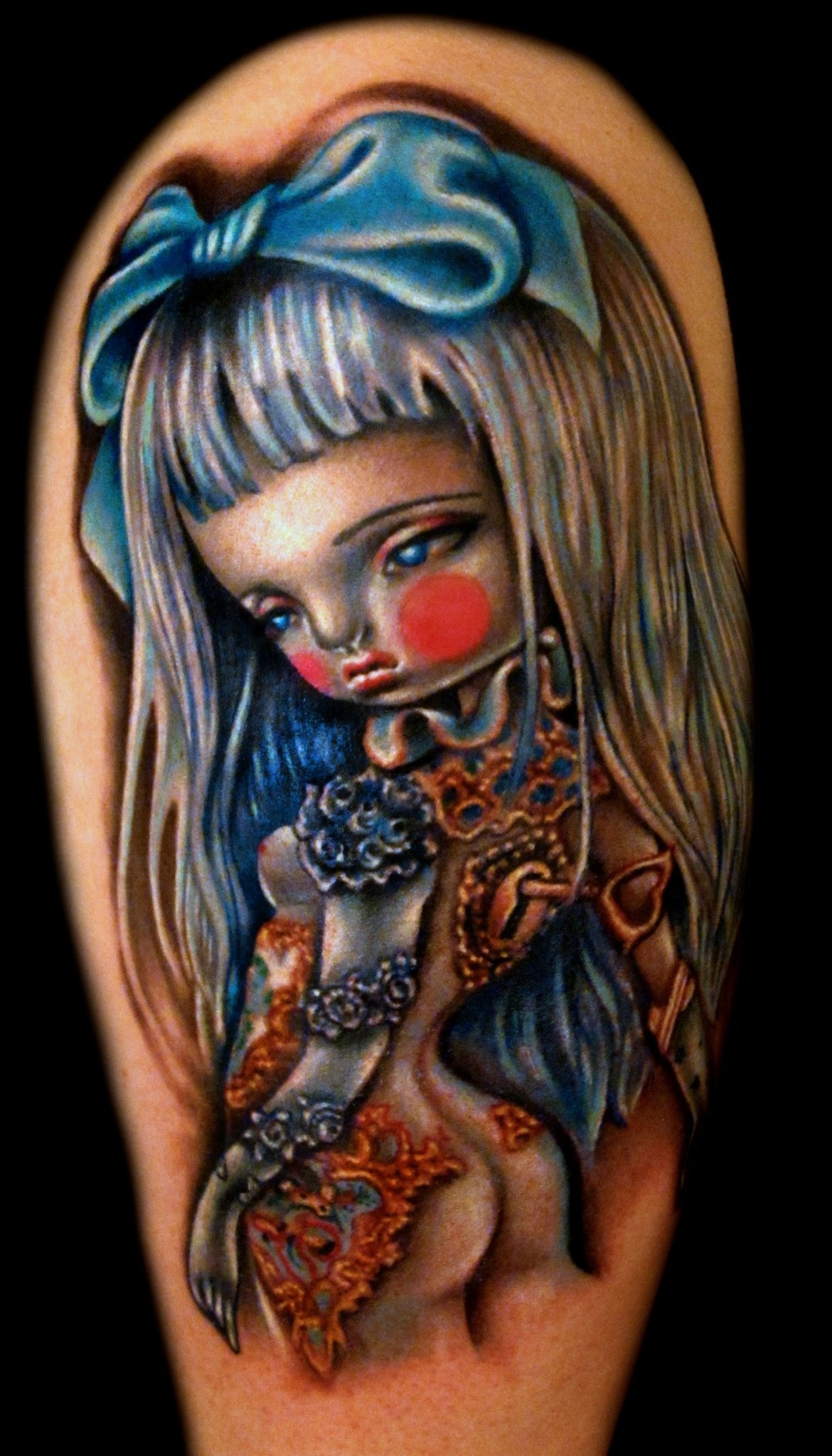 Tattoo Pinup Trinket Kukula Color Liz Cook Dallas Texas 300res.jpg
