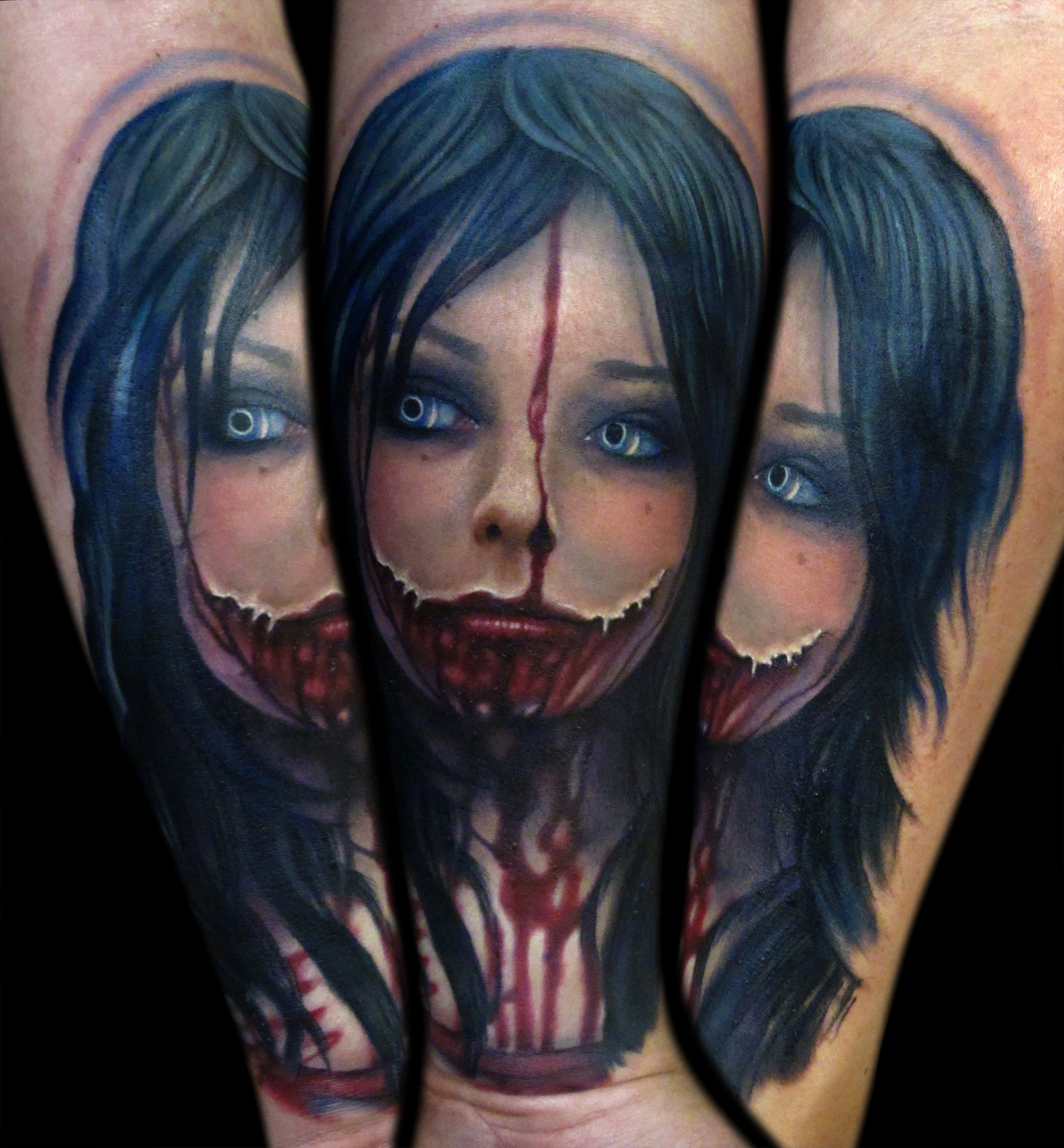 Liz Cook Tattoo Zombie Color Portrait Realistic Blue Hair Rebel Muse Dallas Texas 300res.jpg