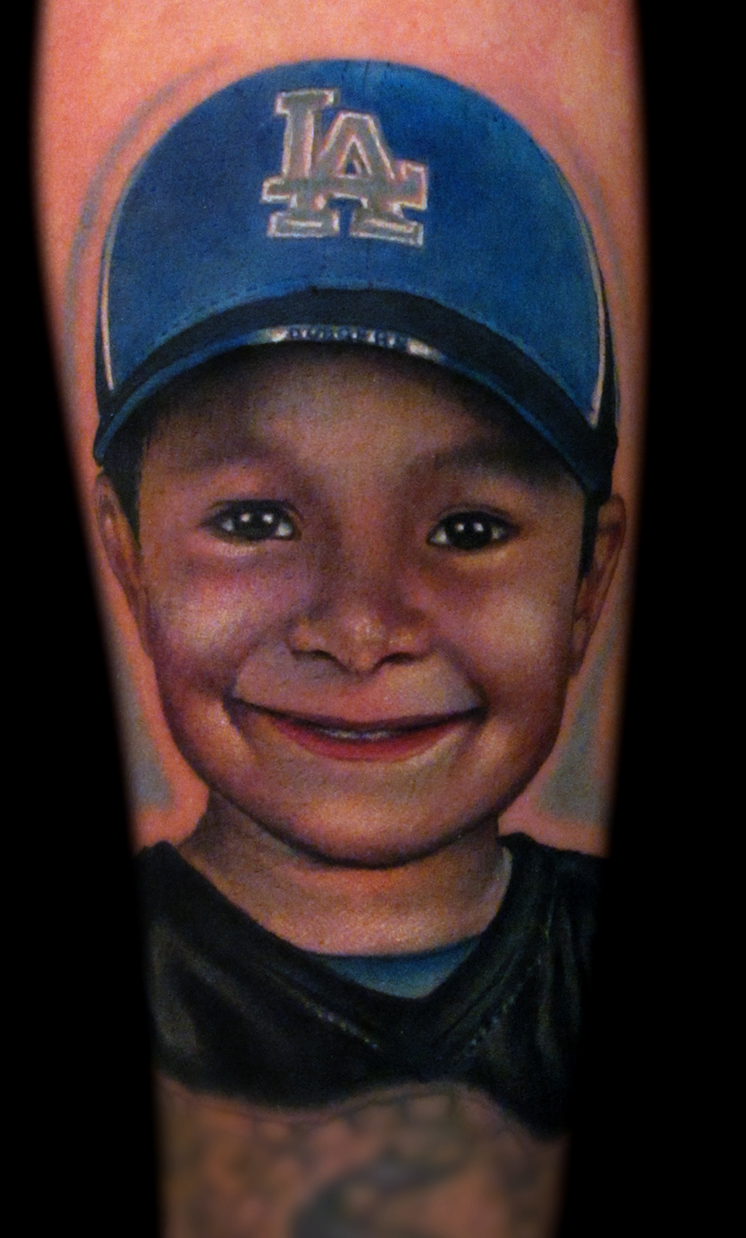 Mag-Tattoo Portrait Realistic Color Dodger Hat Boy Artist Liz Cook Rebel Muse Dallas Texas.jpg