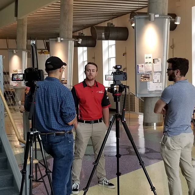 The team just had a great opportunity to do an interview with @creaform3d revolving around our steering wheel design that they helped us to bring to life. Always a great time talking with our generous sponsors! #formulasae #onwisconsin #uwengineering