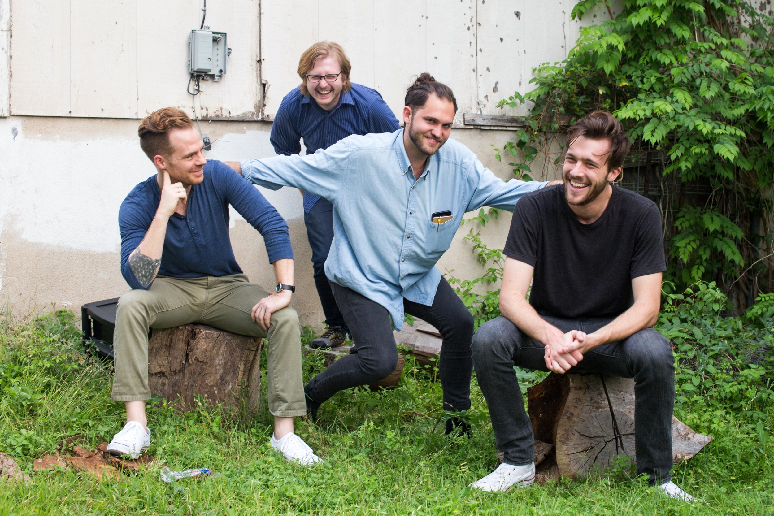 From left to right: Adam Carnes (Adam1), Kevin Reilly, Adam Zeiner (Adam2), BJ Thomas  javi gonzalez/collective blue