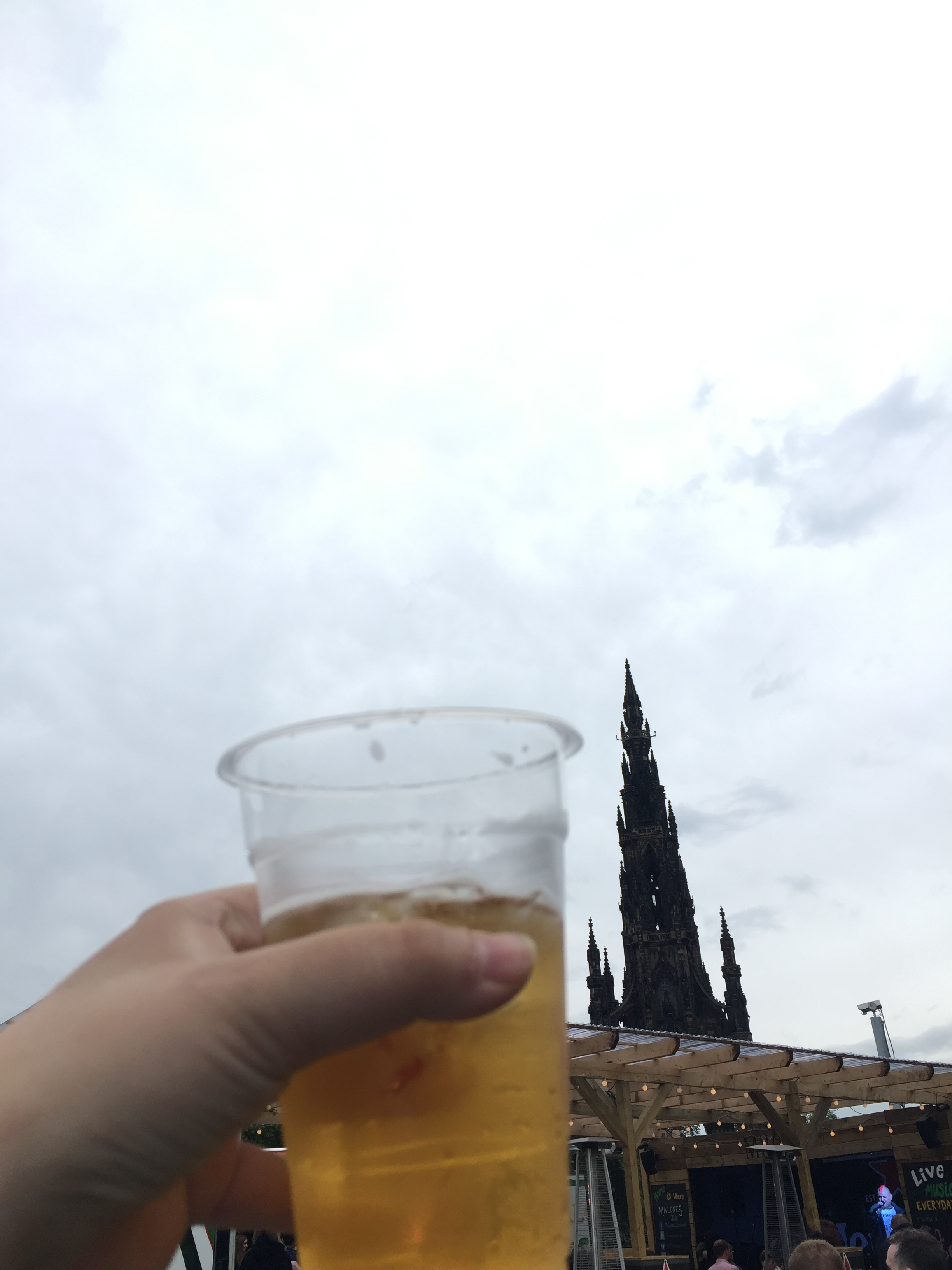 Cider, Scottish punk bands, and the Scott Monument