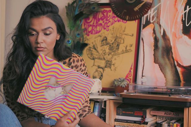 Mood: cats, vinyl, and gold eyeshadow ✨