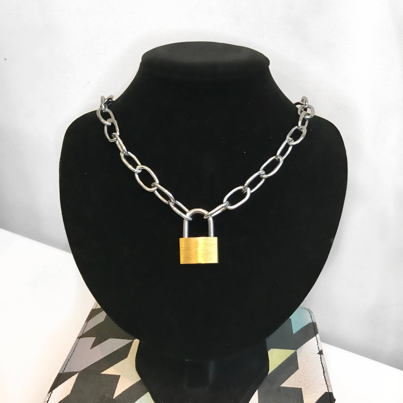 ETSY  Padlock Chain Necklace