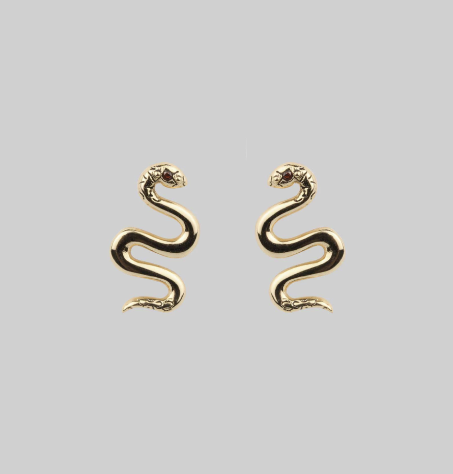REGALROSE  Divinity. Garnet Snake Studs