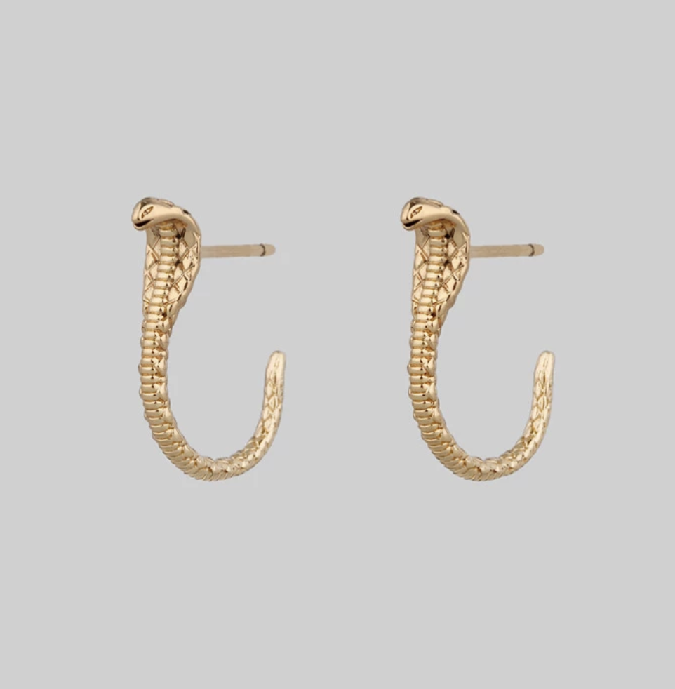 REGALROSE  Ophidia. Mini Serpent Earrings