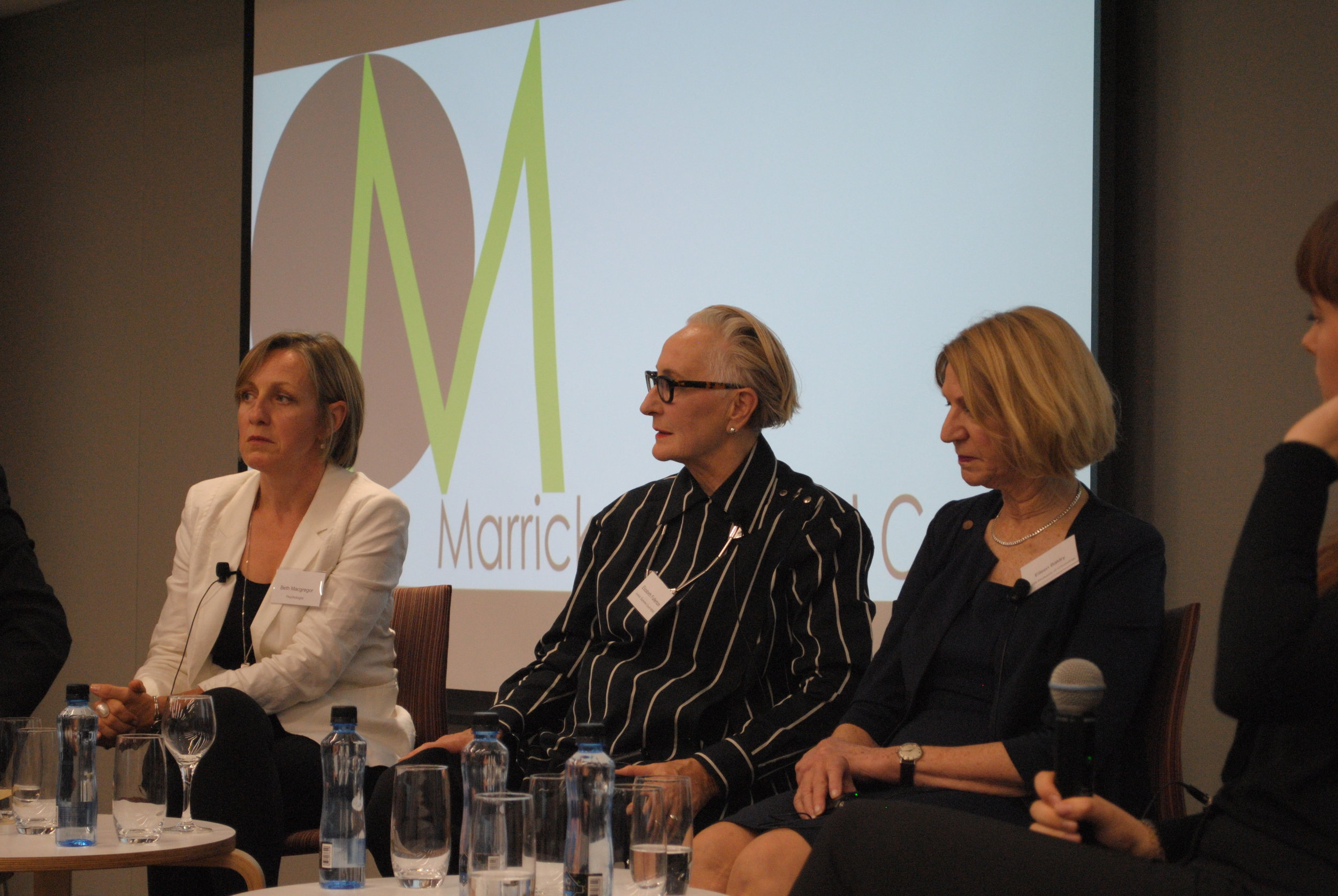 Stopping the cycle of violence (l-r): Beth Macgregor, Justice Fullerton and Professor Eileen Baldry