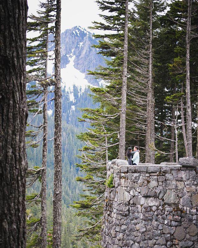 ❤ in the mountaintops #PNW #UpperLeftUSA #NorthwestIsBest #MountainVibes #Engagement #Portrait
