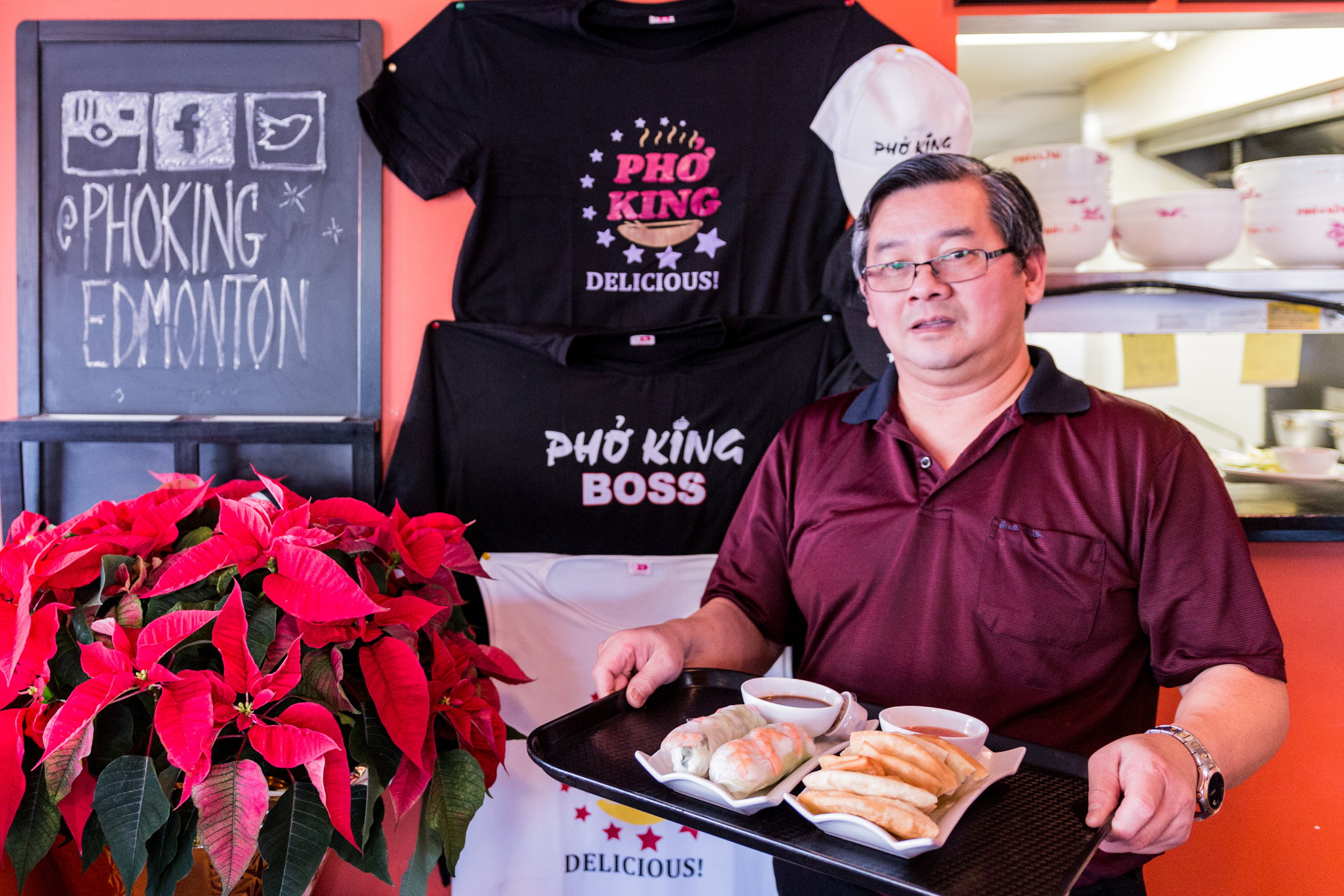 Ahson Nguyen and family opened Pho King in 2010. This Alberta Avenue mainstay uses the freshest and highest quality ingredients together to create food inspired by the traditional flavours of Vietnam.
