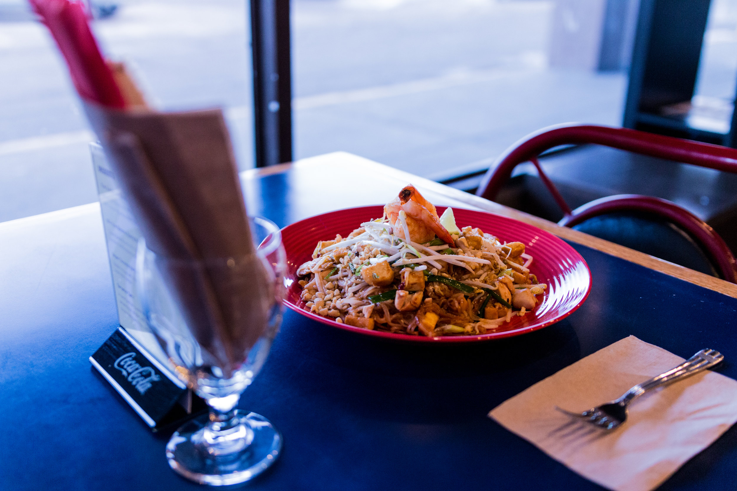 Pad thai feast for the eyes.